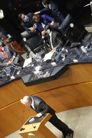 Intervención en tribuna del senador Julen Rementería del Puerto para referirse al dictamen de las Comisiones Unidas de Puntos Constitucionales; y de Estudios Legislativos, Segunda, el que contiene proyecto de decreto por el que se reforman los artículos 108 y 111 de la Constitución Política de los Estados Unidos Mexicanos en materia de fuero.