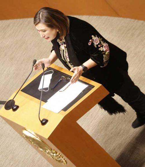 Intervención de la senadora Xóchitl Gálvez Ruiz, al referirse al voto particular del senador José Alejandro Peña Villa sobre el dictamen que reforma los artículos 108 y 111 de la Constitución.