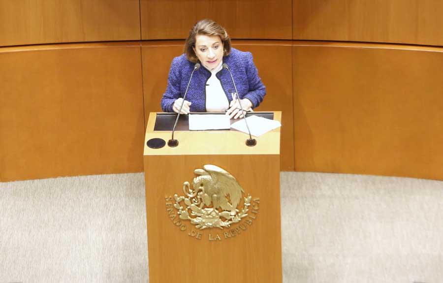 Intervención de la senadora Guadalupe Murguía Gutiérrez, al participar en la discusión de un dictamen de las comisiones unidas de Puntos Constitucionales y de Estudios Legislativos Segunda, por el que se adiciona un tercer párrafo al artículo 108 de la Constitución.