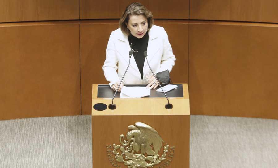 Senadora Guadalupe Murguía Gutiérrez al presentar reservas al dictamen de las Comisiones Unidas en materia de fuero