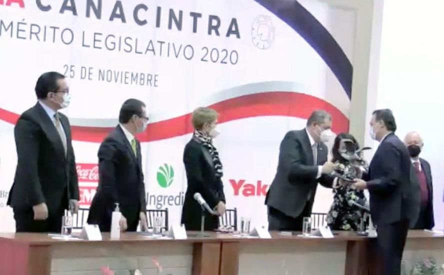 Intervención del senador Mauricio Kuri González, al recibir el Premio Águila Canacintra al Mérito Legislativo 2020.