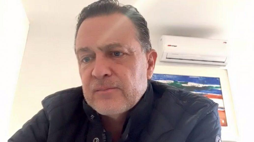 Participación inicial del coordinador de la bancada panista, Mauricio Kuri González, durante la conferencia de prensa conjunta con el presidente nacional, Marko Cortés Mendoza; y el coordinador en Diputados, Juan Carlos Romero Hicks.