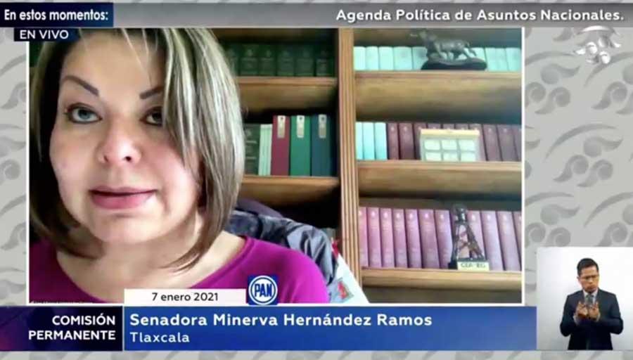 Intervención de la senadora Minerva Hernández Ramos en el apartado de agenda política, para referirse al apagón de energía eléctrica por la CFE.
