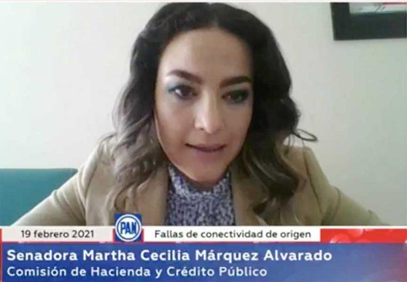 Intervención de la senadora Martha Cecilia Márquez Alvarado, en la reunión de la Comisión de Hacienda y Crédito Público con la comisionada presidenta de la Comisión Federal de Competencia Económica, Alejandra Palacios Prieto.