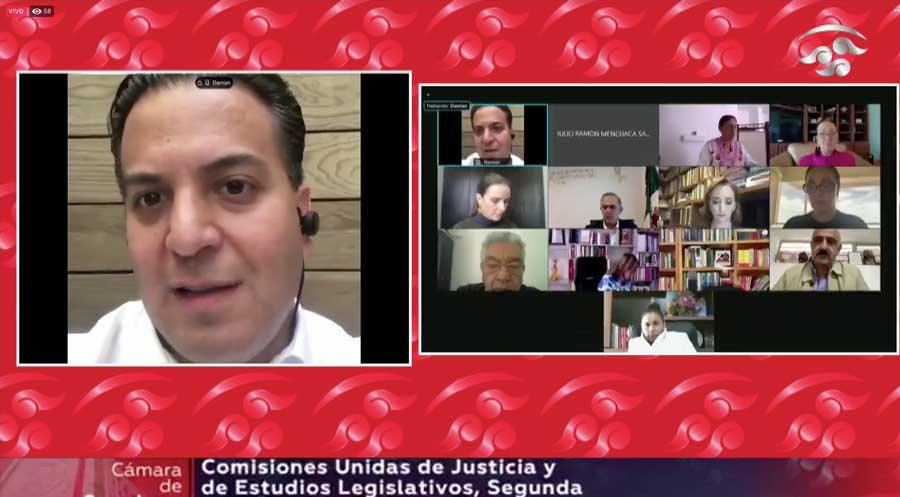 Intervención del senador Damián Zepeda Vidales, durante la reunión extraordinaria de comisiones unidas de Justicia y de Estudios Legislativos Segunda, para referirse a un dictamen en relación con una minuta en materia de prisión preventiva oficiosa.