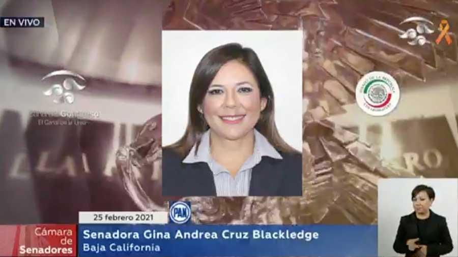 Intervención de la senadora Gina Andrea Cruz Blackledge, al presentar una iniciativa que reforma la fracción I del artículo 151 de la Ley del Impuesto Sobre la Renta.