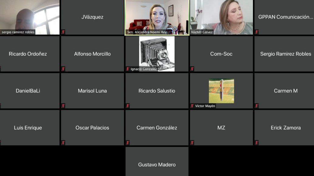 Alejandra Reynoso Sánchez, Xóchitl Gálvez Ruiz, conferencia de prensa, quema de combustóleo, contaminación, refinerías, luz, energías limpias, corrupción, Pemex, CFE