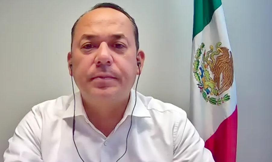 Intervención inicial del coordinador en funciones de los senadores del PAN, Erandi Bermúdez Méndez, durante la conferencia de prensa conjunta con el presidente del CEN del PAN, Marko Cortés y el coordinador en la Cámara de Diputados, Juan Carlos Romero Hicks.