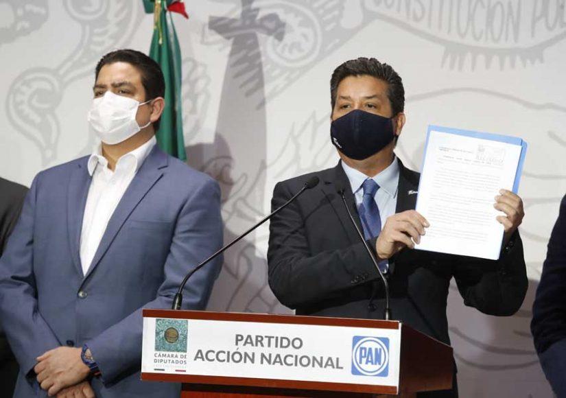 Senador Ismael García Cabeza de Vaca acompaña al gobernador de Tamaulipas a la Cámara de Diputados