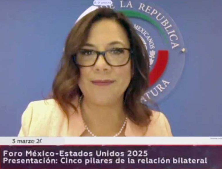 """Intervención de la senadora Gina Cruz Blackledge, durante la clausura del Foro """"México-Estados Unidos 2025. Presentación Recomendaciones: Cinco pilares de la relación bilateral"""""""