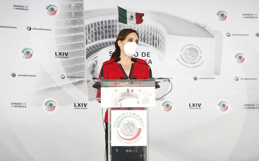 Conferencia de la senadora Lilly Téllez, iniciativa contra candidatos con acusaciones de tipo sexual