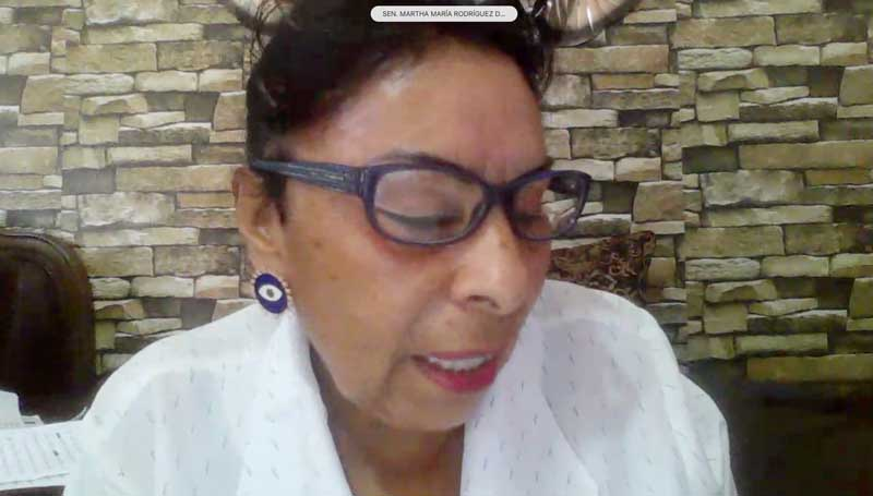 Intervención de la senadora Martha María Rodríguez Domínguez, para presentar iniciativa con proyecto de decreto por el que se reforma el párrafo primero del artículo 20; y los párrafos primero, segundo y tercero del artículo 23, de la Ley para Regular las Sociedades de Información Crediticia.