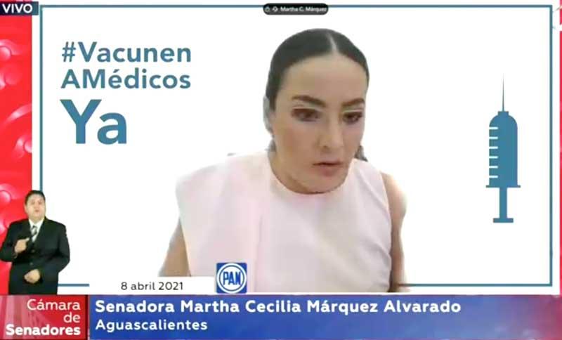Intervención de la senadora Martha Cecilia Márquez Alvarado, para presentar iniciativa con proyecto de decreto por el que se adiciona al apartado A una fracción IX, X, XI, XII, XII y XIV; y se adiciona una fracción II al apartado B del artículo 16 de la Ley de Ingresos de la Federación para el Ejercicio Fiscal 2021.