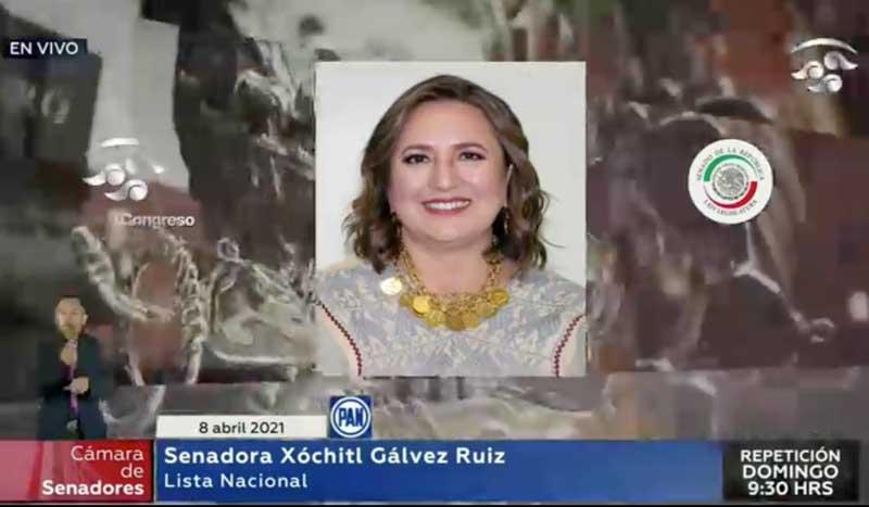 Intervención de la senadora Xóchitl Gálvez Ruiz, al solicitar que un punto de acuerdo de su autoría se turne directamente a comisiones para su dictaminación.