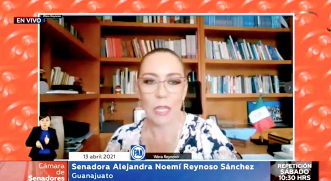 Intervención de la senadora Alejandra Reynoso Sánchez para referirse a la elección del nuevo presidente de Ecuador, Guillermo Lasso, y enviarle una felicitación.