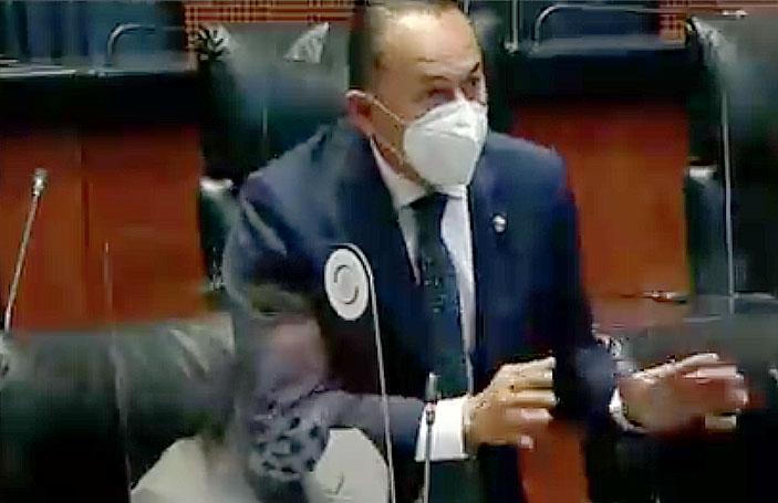 Senador Erandi Bermúdez al intervenir desde su escaño