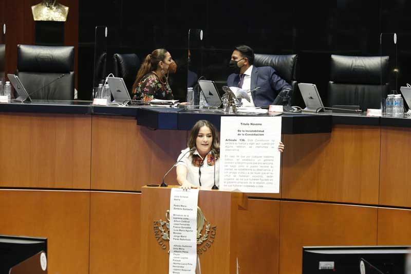 Intervención en tribuna de la senadora Martha Cecilia Márquez Alvarado, para hablar en contra del proyecto de decreto por el que se expide la Ley para la Transparencia, Prevención y Combate de Prácticas Indebidas en materia de Contratación de Publicidad.