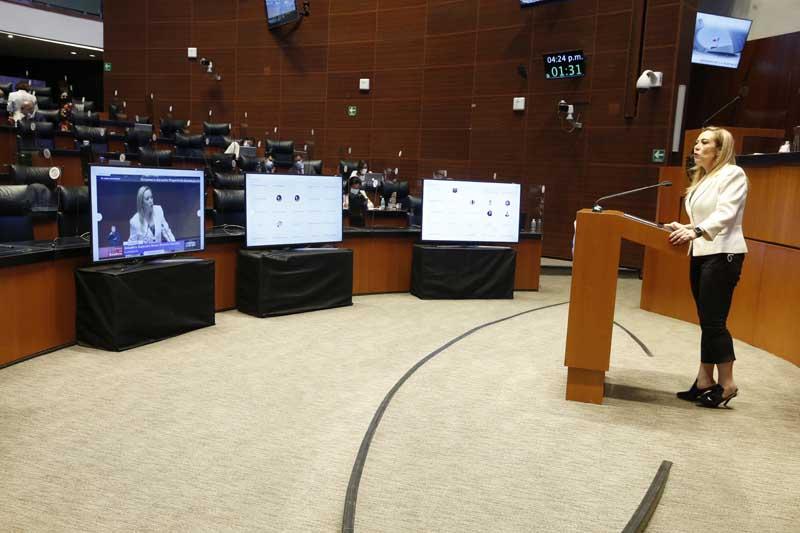 Intervención en tribuna de la senadora Alejandra Noemí Reynoso Sánchez, para hablar referirse al proyecto de decreto por el que se adiciona un artículo 68 Bis a la Ley Federal del Trabajo.
