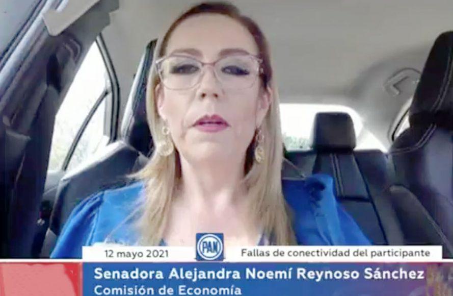 Senadora Alejandra Reynoso Sánchez, presidente de la Comisión de Economía, para referirse al proceso de renovación de la Presidencia del Órgano de Gobierno de la COFECE, y a la reunión con el Consejo Nacional de Evaluación de la Política de Desarrollo Social (CONEVAL), en la reunión de trabajo de la Comisión de Economía.