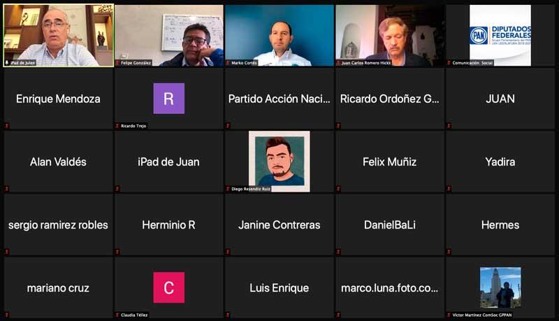Intervención del Coordinador de las y los senadores del PAN, Julen Rementería del Puerto, en la conferencia conjunta, Marko Cortés, Juan Carlos Romero Hicks