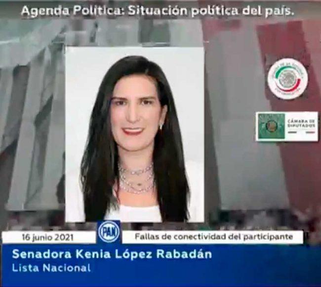 Intervención de la senadora Kenia López Rabadán durante la sesión de la Comisión Permanente.