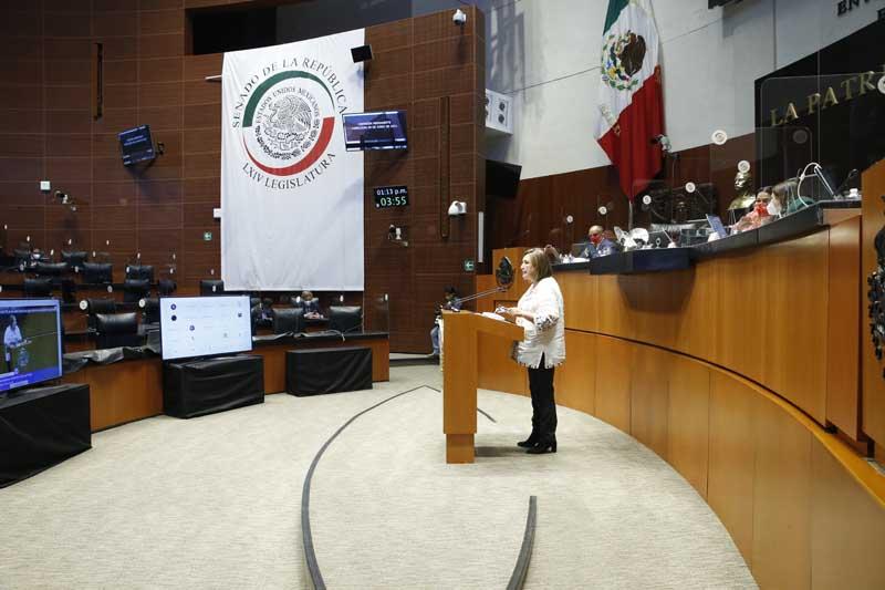 Intervención de la senadora Xóchitl Gálvez Ruiz, al presentar una iniciativa por la que se adiciona el numeral 6 al artículo 14; se adiciona el numeral 4 al artículo 15 y se adiciona un párrafo al numeral 1, y se modifican los numerales 3 y 4 del artículo 26 de la Ley General de Instituciones y Procedimientos Electorales.