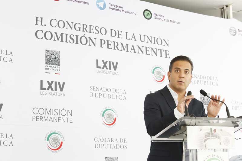 Entrevista concedida por el senador Damián Zepeda Vidales, durante la sesión a distancia de la Comisión Permanente del Congreso.
