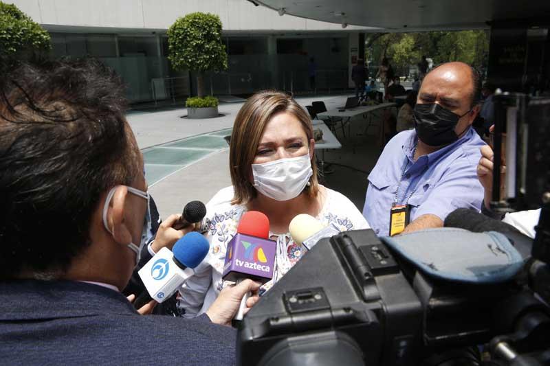 Entrevista concedida por la senadora Xóchitl Gálvez Ruiz, al término de la sesión a distancia de la Comisión Permanente del Congreso.