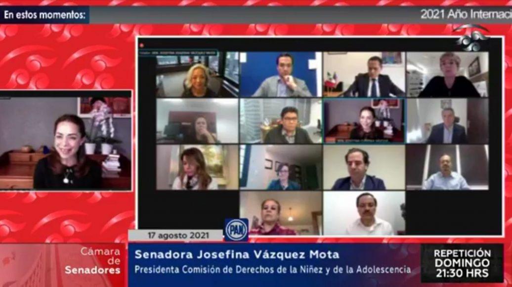 """Senadora Josefina Vázquez Mota, durante el Foro Virtual: """"2021 Año Internacional para Erradicar el Trabajo Infantil – Retos y Oportunidades"""""""