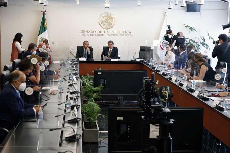 Senadora Josefina Vázquez Mota durante reunión de la Junta de Coordinación Política (Jucopo)