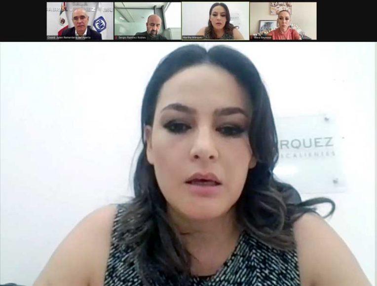 Conferencia de prensa de las senadoras Marta Cecilia Márquez Alvarado, Alejandra Reynoso Sánchez y el Coordinador, Julen Rementería del Puerto.