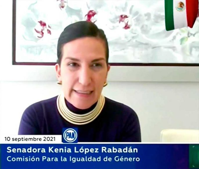 Senadora Kenia López Rabadán, en materia de Alerta de Violencia de Género contra las mujeres
