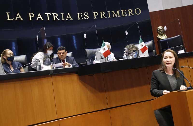 Intervención en tribuna de la senadora Gloria Elizabeth Núñez Sánchez, para formular preguntas al Javier May Rodríguez, titular de la Secretaría de Bienestar.