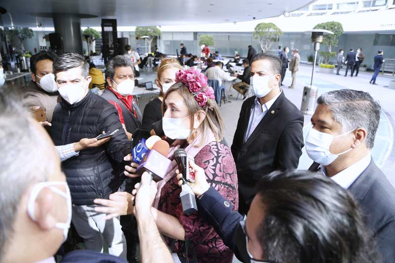 Entrevista al senador Damián Zepeda Vidales y a la senadora Xóchitl Gálvez Ruiz, al término de la sesión ordinaria