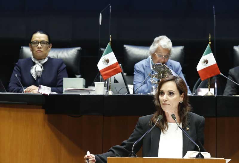 Intervención en tribuna de la senadora Lilly Téllez para formular preguntas a la Lic. Rosa Icela Rodríguez Velázquez, secretaria de Seguridad y Protección Ciudadana, en el marco del análisis del Tercer Informe de Gobierno del Presidente de la República.
