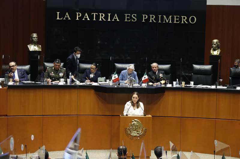 Intervención de la senadora Josefina Vázquez Mota, al formular preguntas a Rosa Icela Rodríguez Velázquez, secretaria de Seguridad y Protección Ciudadana, en el marco del análisis del III Informe de Gobierno del presidente de la República.